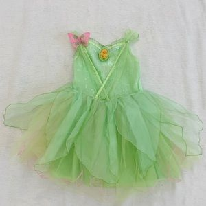 Disney Tinkerbell Fairy Costume Green size 3T